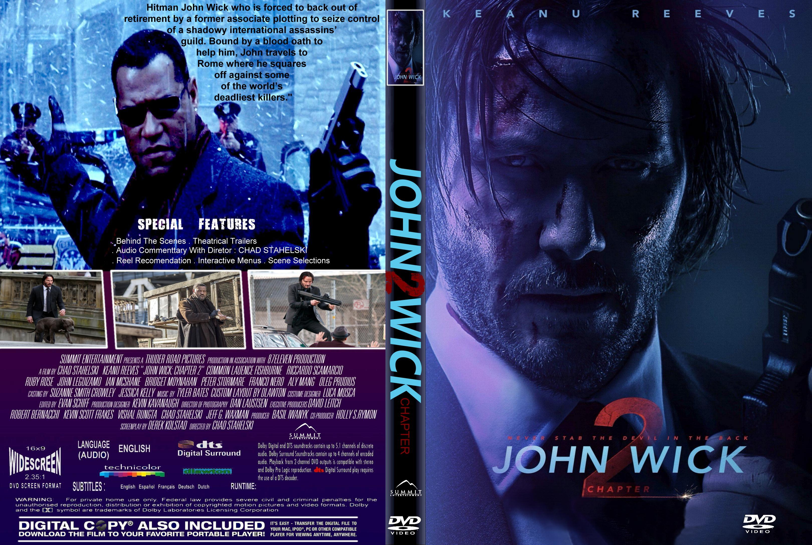 John Wick Chapter 2 2017 Front Dvd Covers Cover Century Over 500 000 Album Art Covers For Free